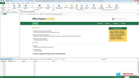 Ekran görüntüsü Offline Explorer Windows 8
