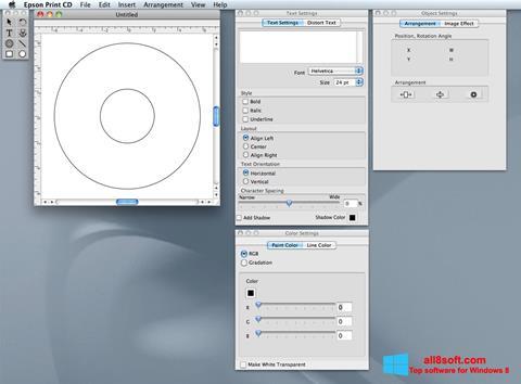 Ekran görüntüsü EPSON Print CD Windows 8
