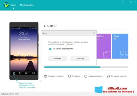 Ekran görüntüsü Huawei HiSuite Windows 8