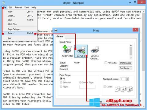 Ekran görüntüsü doPDF Windows 8