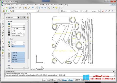 Ekran görüntüsü DraftSight Windows 8