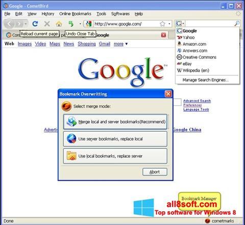Ekran görüntüsü CometBird Windows 8