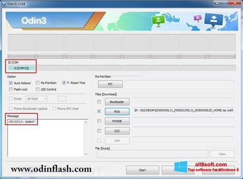Ekran görüntüsü Odin Windows 8