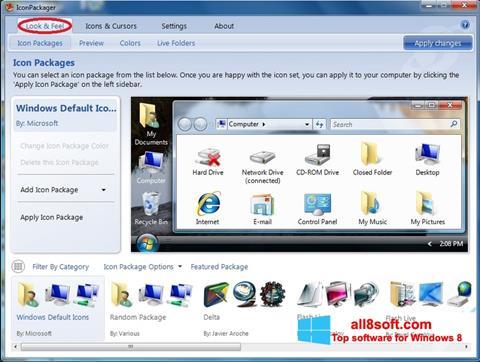 Ekran görüntüsü IconPackager Windows 8