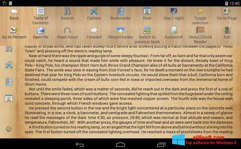 Ekran görüntüsü Cool Reader Windows 8
