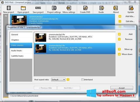 Ekran görüntüsü DVD Flick Windows 8