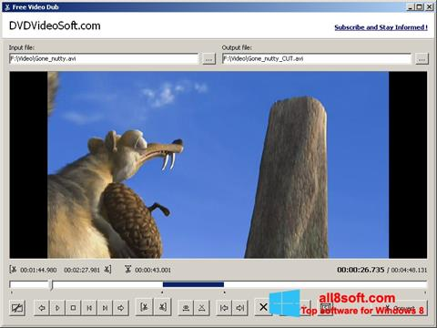 Ekran görüntüsü Free Video Dub Windows 8
