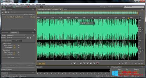 Ekran görüntüsü Adobe Audition Windows 8