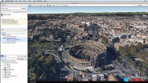 Ekran görüntüsü Google Earth Pro Windows 8