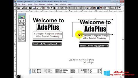 Ekran görüntüsü Adobe PageMaker Windows 8
