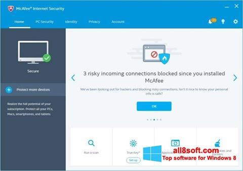 Ekran görüntüsü McAfee Internet Security Windows 8