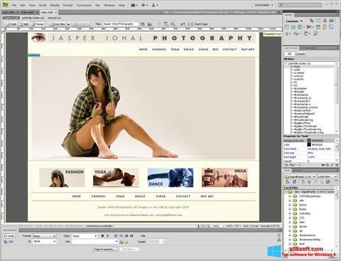 Ekran görüntüsü Adobe Dreamweaver Windows 8