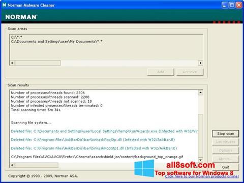 Ekran görüntüsü Norman Malware Cleaner Windows 8