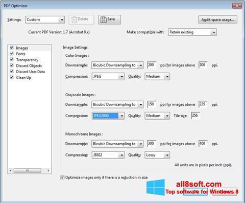 Ekran görüntüsü Adobe Acrobat Pro DC Windows 8
