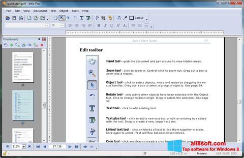 Ekran görüntüsü Infix PDF Editor Windows 8