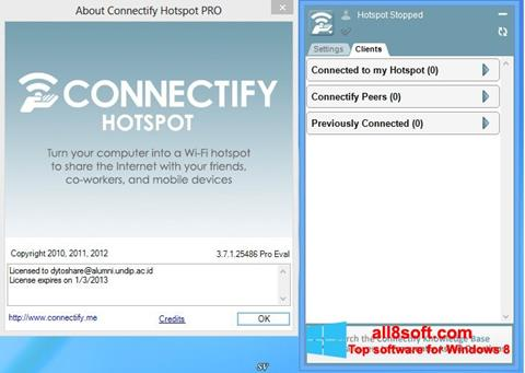 Ekran görüntüsü Connectify Hotspot Windows 8