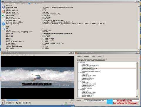 Ekran görüntüsü MediaInfo Windows 8