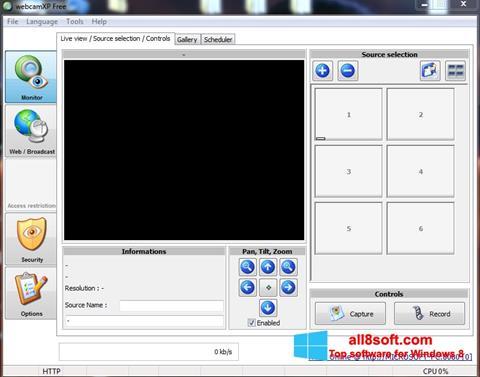 Ekran görüntüsü webcamXP Windows 8
