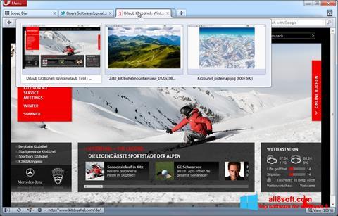 Ekran görüntüsü Opera Windows 8