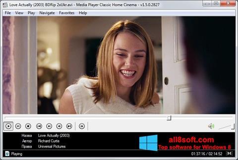 Ekran görüntüsü Media Player Classic Home Cinema Windows 8