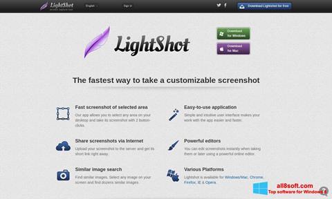 Ekran görüntüsü LightShot Windows 8