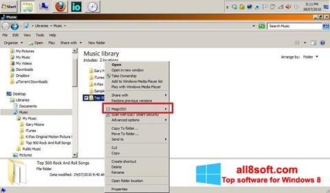 Ekran görüntüsü MagicISO Windows 8