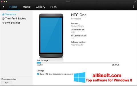 Ekran görüntüsü HTC Sync Windows 8