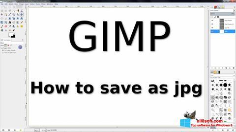 Ekran görüntüsü GIMP Windows 8