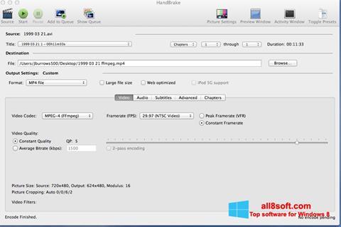 Ekran görüntüsü HandBrake Windows 8