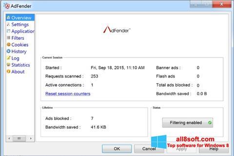 Ekran görüntüsü AdFender Windows 8