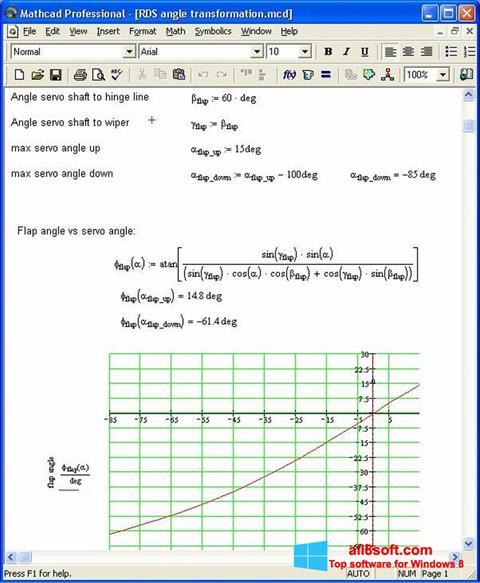 Ekran görüntüsü MathCAD Windows 8