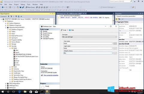 Ekran görüntüsü Microsoft SQL Server Windows 8