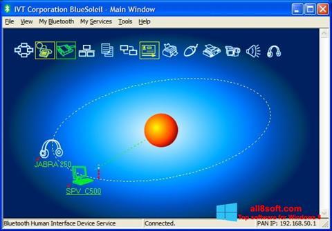 Ekran görüntüsü BlueSoleil Windows 8