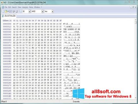 Ekran görüntüsü HxD Hex Editor Windows 8