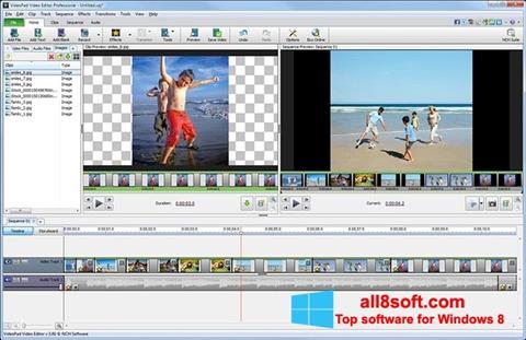 Ekran görüntüsü VideoPad Video Editor Windows 8