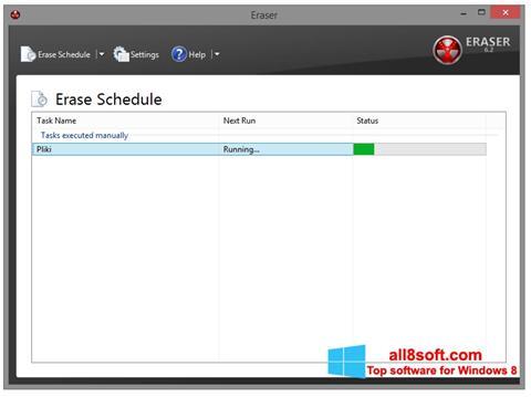 Ekran görüntüsü Eraser Windows 8