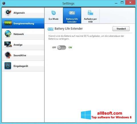 Ekran görüntüsü Easy Settings Windows 8