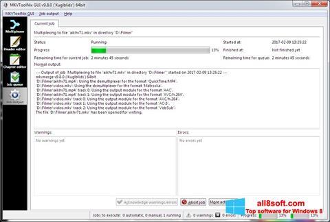 Ekran görüntüsü MKVToolnix Windows 8