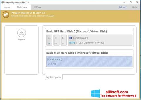 Ekran görüntüsü Paragon Migrate OS to SSD Windows 8