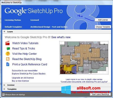 Ekran görüntüsü Google SketchUp Pro Windows 8