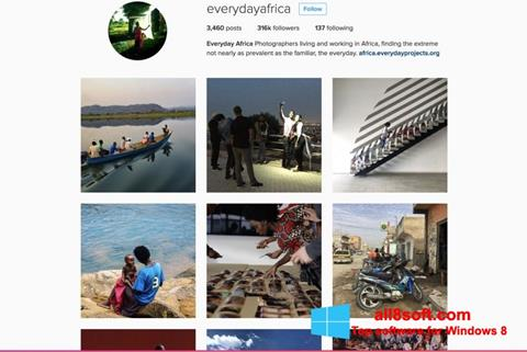 Ekran görüntüsü Instagram Windows 8