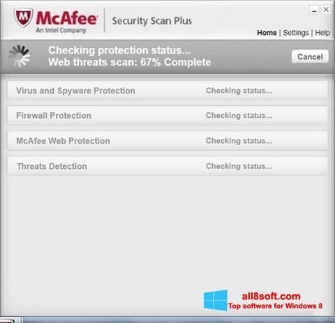Ekran görüntüsü McAfee Security Scan Plus Windows 8