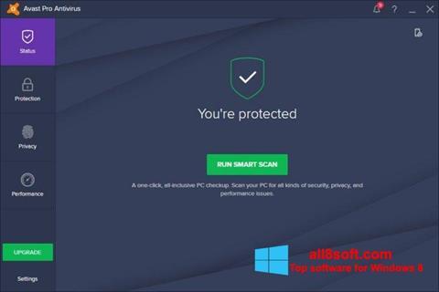 Ekran görüntüsü Avast! Pro Antivirus Windows 8
