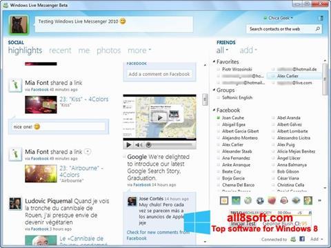 Ekran görüntüsü Windows Live Messenger Windows 8