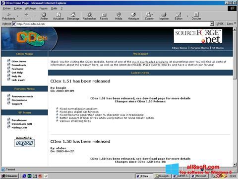 Ekran görüntüsü CDex Windows 8