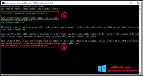 Ekran görüntüsü ESET Uninstaller Windows 8
