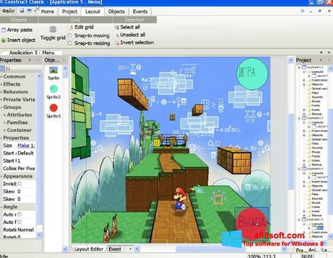 Ekran görüntüsü Construct Classic Windows 8