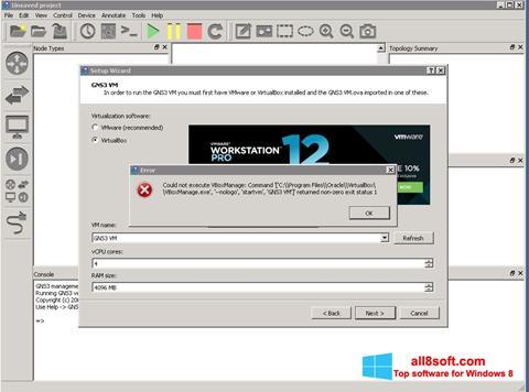 Ekran görüntüsü GNS3 Windows 8