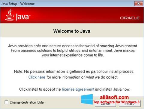 Ekran görüntüsü Java Runtime Environment Windows 8
