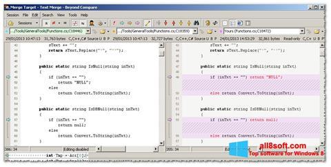 Ekran görüntüsü Beyond Compare Windows 8